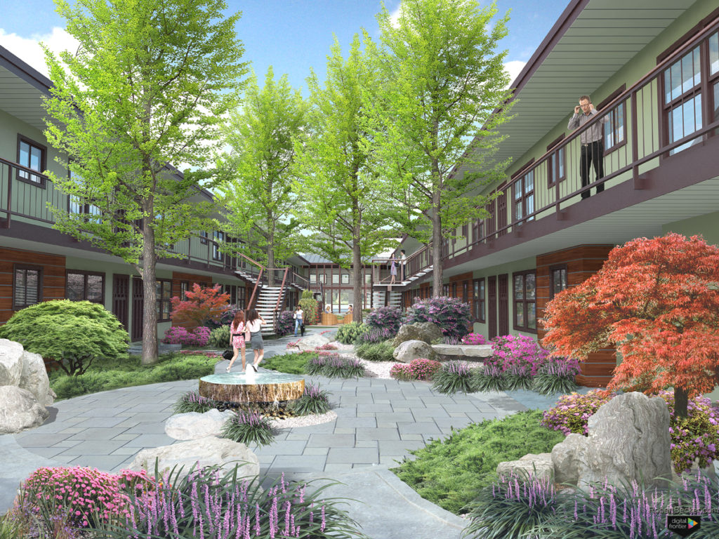 photorealistic Architectural 3d rendering
