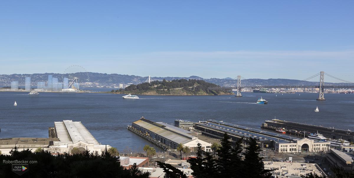 Golden Gate Flyer architectural digital 3d rendering photomontage