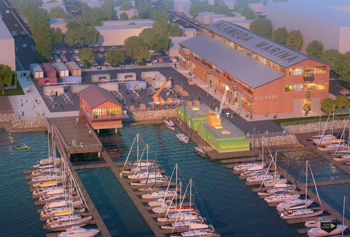 Alameda Marina 3d photorealistic rendering