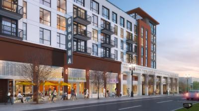 3000 Broadway Oakland retail rendering