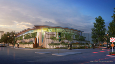 F&M Bank Walnut Creek dusk rendering