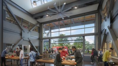 Hayward High School digital rendering
